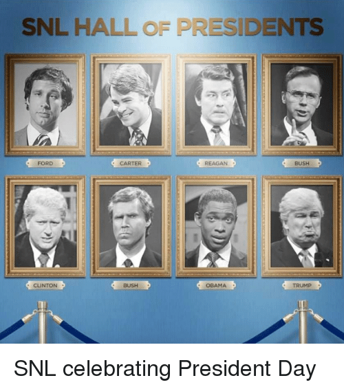 clinton bush: SNL HALL OF PRESIDENTS  FORD  CARTER  REAGAN  BUSH  CLINTON  BUSH  OBAMA  TRUMP  1