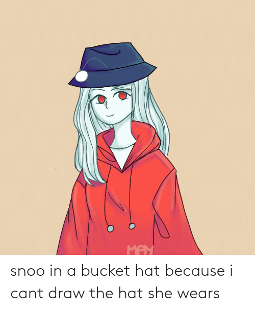 snoo: snoo in a bucket hat because i cant draw the hat she wears