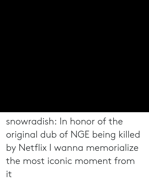 nge: snowradish:  In honor of the original dub of NGE being killed by Netflix I wanna memorialize the most iconic moment from it