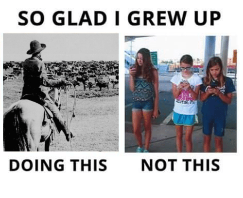 Ups, Controversial Cowboy, and  Up Do: SO GLAD I GREW UP  DOING THIS  NOT THIS