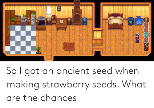 seeds: So I got an ancient seed when making strawberry seeds. What are the chances