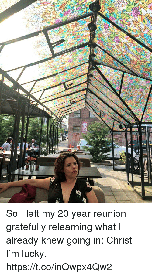 Memes, 🤖, and Reunion: So I left my 20 year reunion gratefully relearning what I already knew going in: Christ I'm lucky. https://t.co/inOwpx4Qw2