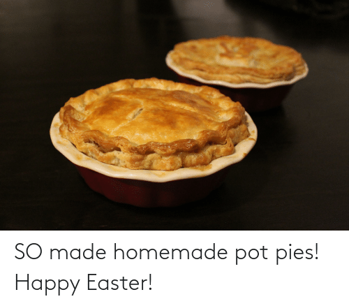 pot: SO made homemade pot pies! Happy Easter!
