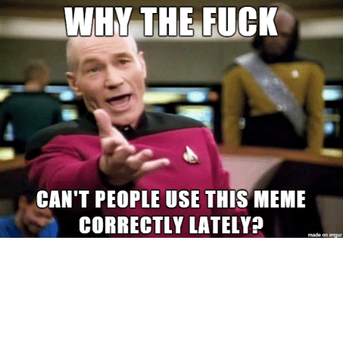So Many: So many years of posts explaining how these memes all work…