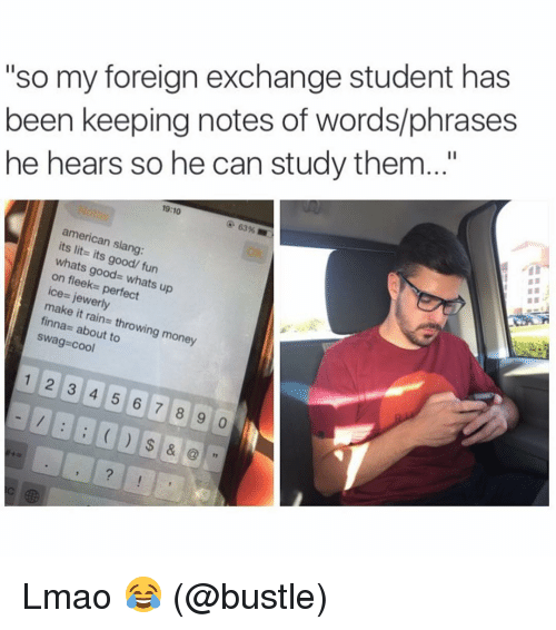 Dating a foreign exchange student