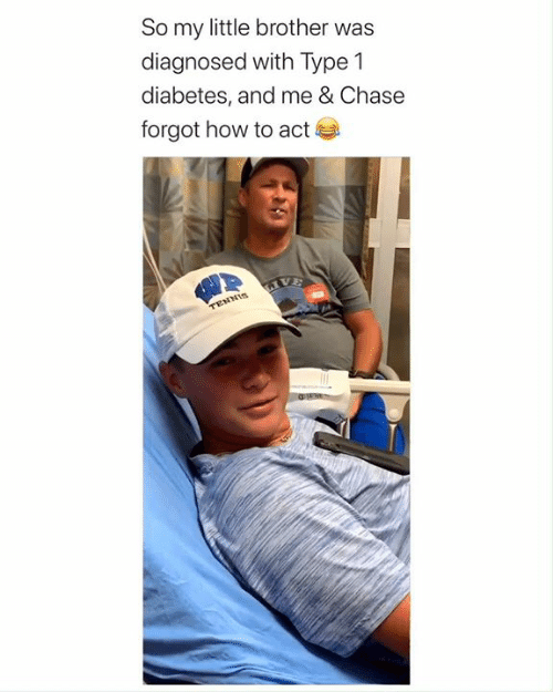 Type-1 Diabetes: So my little brother was  diagnosed with Type 1  diabetes, and me & Chase  forgot how to act  LIVE  TENNIS