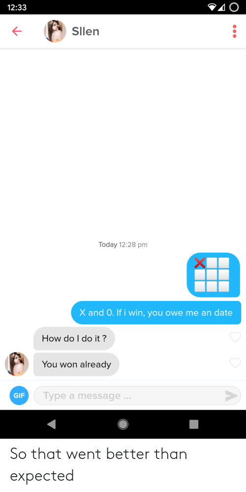 expected: So that went better than expected