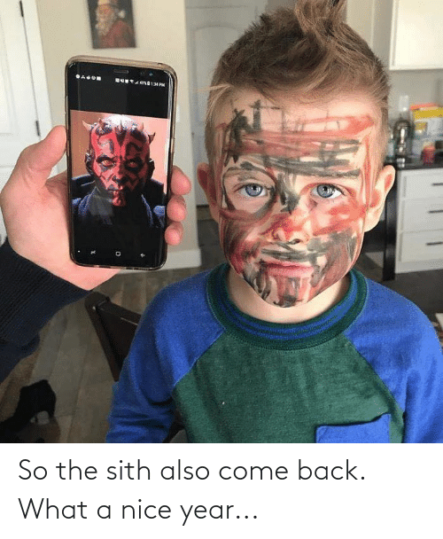 Star Wars: So the sith also come back. What a nice year...