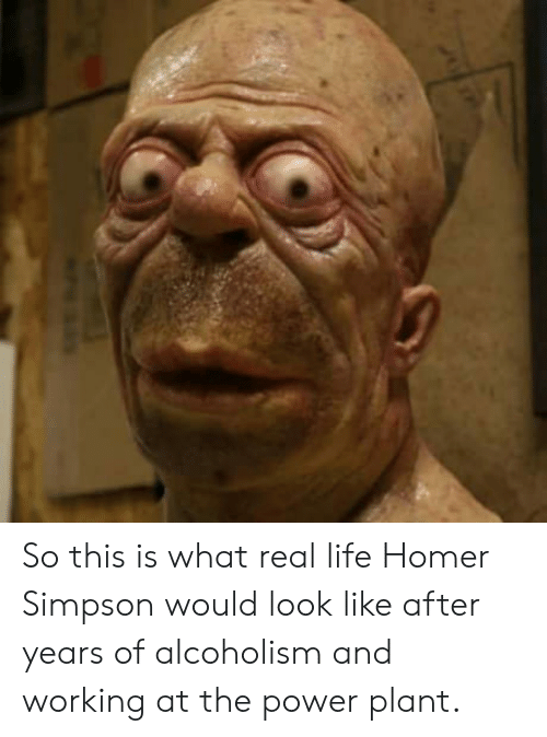 Homer Simpson: So this is what real life Homer Simpson would look like after years of alcoholism and working at the power plant.