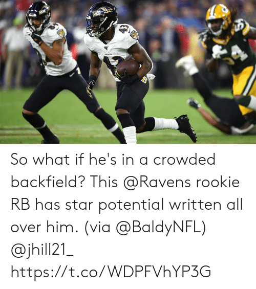 crowded: So what if he's in a crowded backfield?  This @Ravens rookie RB has star potential written all over him. (via @BaldyNFL) @jhill21_ https://t.co/WDPFVhYP3G