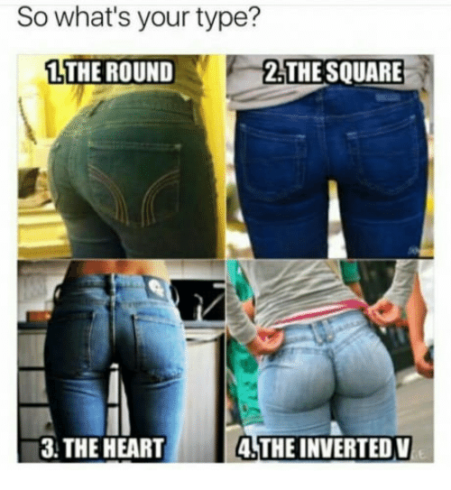 So What's Your Type? 1 THE ROUND F 2THESQUARE 3 THE HEART ...