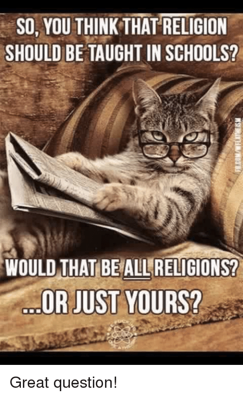 """should religions be taught in public On the other end are those who view public schools as religion-free zones  neither of  no longer """"should i teach about religion"""" but rather """"how should i  do it."""