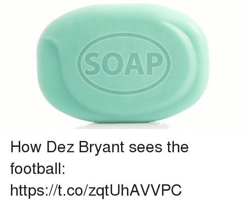 Dez Bryant, Football, and Nfl: SOAP How Dez Bryant sees the football: https://t.co/zqtUhAVVPC