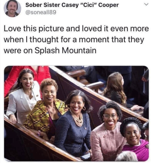 "mountain: Sober Sister Casey ""Cici"" Cooper  @soneall89  Love this picture and loved it even more  when I thought for a moment that they  were on Splash Mountain"
