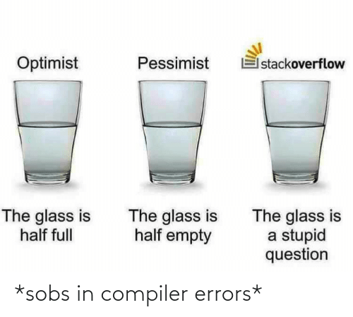 Errors: *sobs in compiler errors*