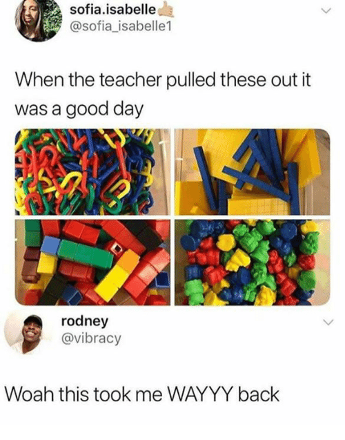 Rodney: sofia.isabelle  @sofia_isabelle1  When the teacher pulled these out it  was a good day  rodney  @vibracy  Woah this took me WAYYY back