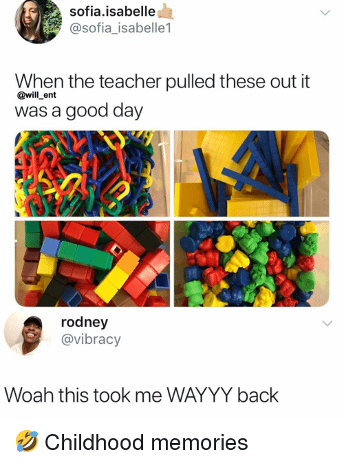 Rodney: sofia.isabelle  @sofia_isabelle1  When the teacher pulled these out it  was a good day  @will _ent  rodney  @vibracy  Woah this took me WAYYY back 🤣 Childhood memories