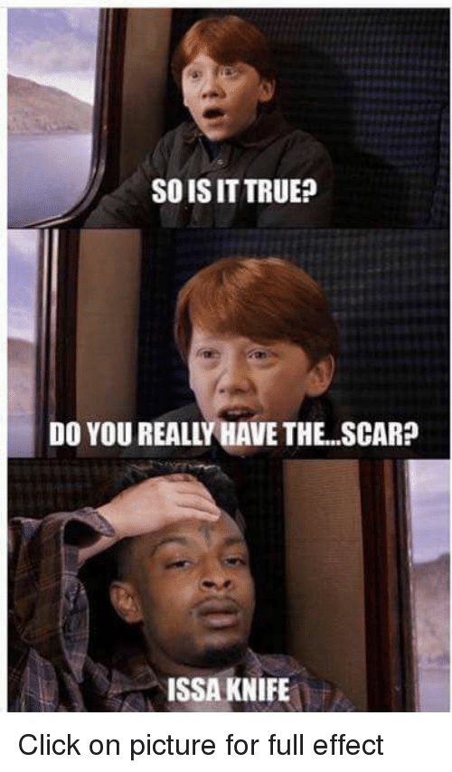 Issa Knife: SOIS IT TRUE?  DO YOU REALLY HAVE THE SCAR?  ISSA KNIFE Click on picture for full effect