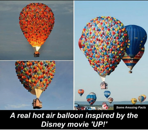 hot air balloons: Some Amazing Facts  A real hot air balloon inspired by the  Disney movie 'UP!'