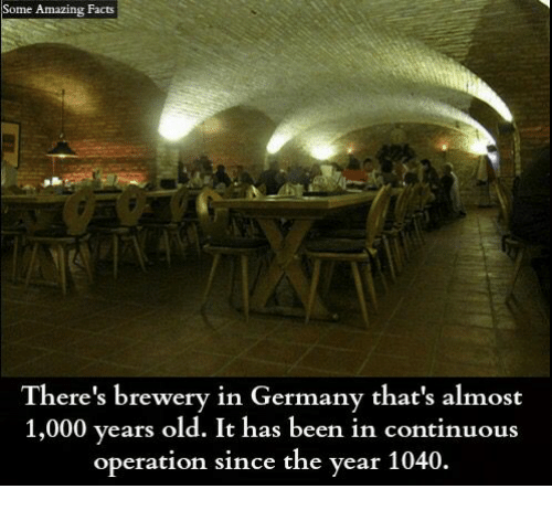 amazing facts: Some Amazing Facts  There's brewery in Germany that's almost  1,000 years old. It has been in continuous  operation since the year 1040