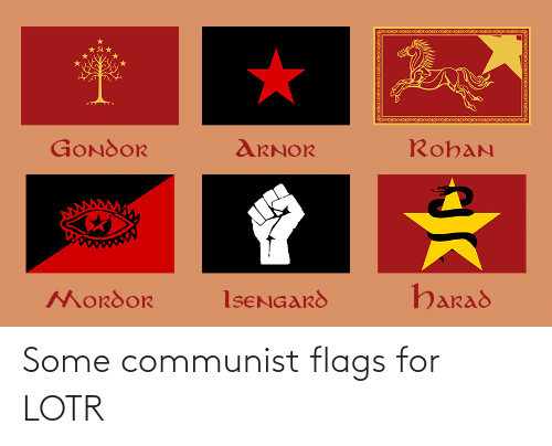 flags: Some communist flags for LOTR