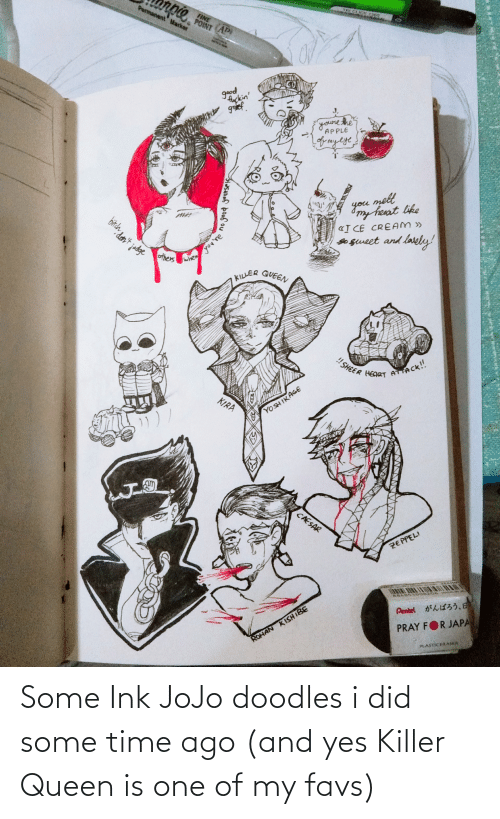 ink: Some Ink JoJo doodles i did some time ago (and yes Killer Queen is one of my favs)