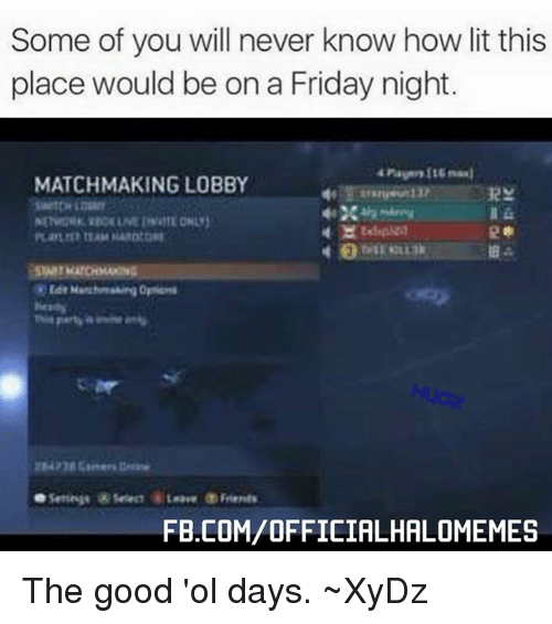 Good luck matchmaking