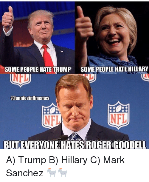 some people hate trump some people hate hillary nfl funniestnflmemes 6707083 some people hate trump some people hate hillary nfl nfl