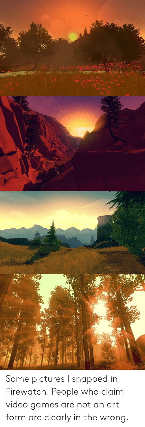 claim: Some pictures I snapped in Firewatch. People who claim video games are not an art form are clearly in the wrong.