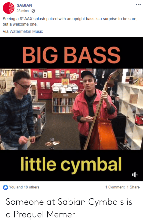 cymbals: Someone at Sabian Cymbals is a Prequel Memer