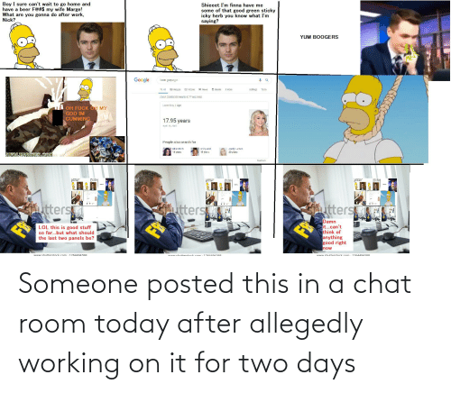 Allegedly: Someone posted this in a chat room today after allegedly working on it for two days