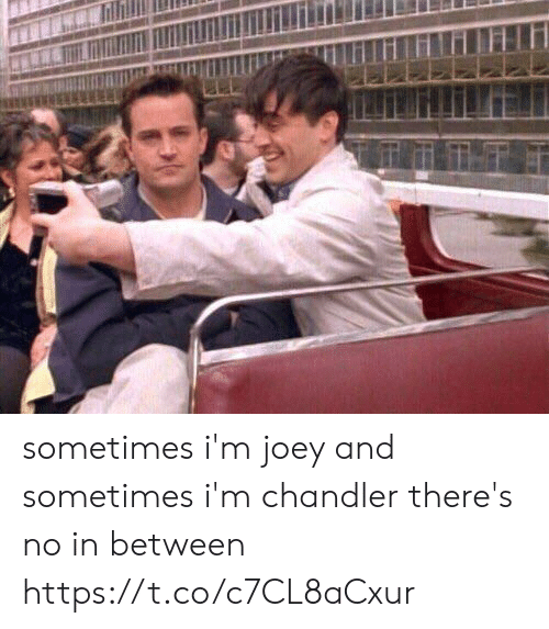 chandler: sometimes i'm joey and sometimes i'm chandler there's no in between https://t.co/c7CL8aCxur