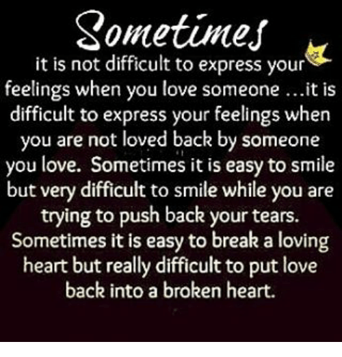 how to express difficult feelings