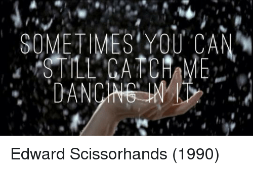 Edward Scissorhands: SOMETIMES YOU CAN Edward Scissorhands (1990)