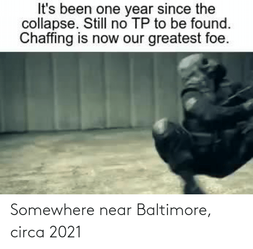 Baltimore: Somewhere near Baltimore, circa 2021