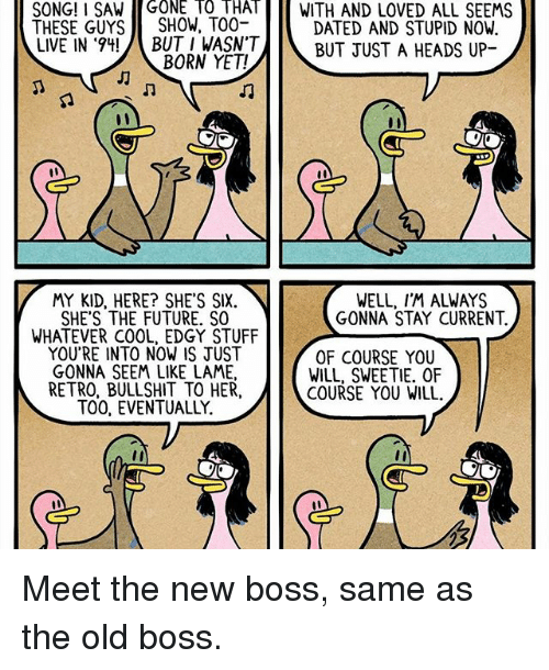 meet the new boss same as old video instagram