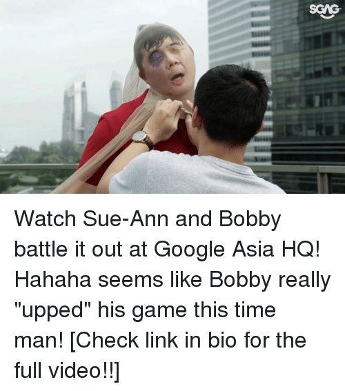 """Memes, 🤖, and Asia: SONG. Watch Sue-Ann and Bobby battle it out at Google Asia HQ! Hahaha seems like Bobby really """"upped"""" his game this time man! [Check link in bio for the full video!!]"""