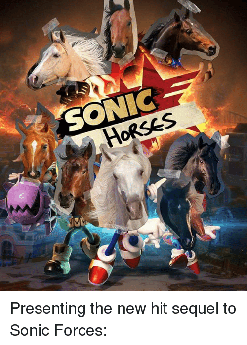 Dank, Horses, and Sonic: SONIC  HORSES Presenting the new hit sequel to Sonic Forces: