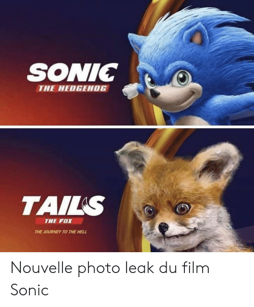 The Fox: SONIC  THE HEDGEHOG  TAILS  THE FOX  THE JOURNEY TO THE HELL Nouvelle photo leak du film Sonic
