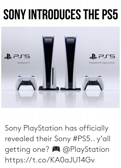 Ps5: Sony PlayStation has officially revealed their Sony #PS5.. y'all getting one? 🎮 @PlayStation https://t.co/KA0aJU14Gv