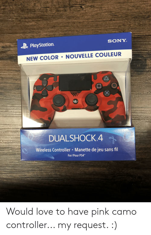sony playstation: SONY  PlayStation  NEW COLOR NOUVELLE COULEUR  OPTIO  X  EXX  DUALSHOCK.4  Wireless Controller Manette de jeu sans fil  For/Pour PS4 Would love to have pink camo controller... my request. :)