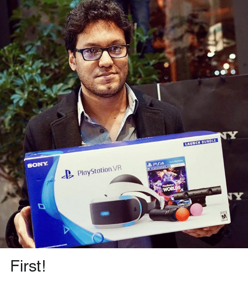 Dank, PlayStation, and Sony: SONY  PlayStation VR  LAUNCHIDUNDLE First!