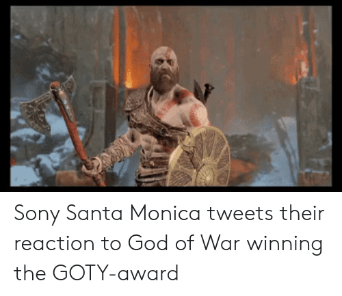 god of war: Sony Santa Monica tweets their reaction to God of War winning the GOTY-award