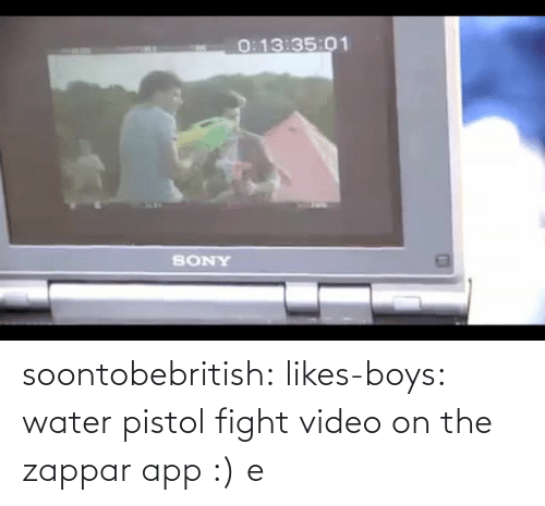 water pistol: soontobebritish:  likes-boys:  water pistol fight video on the zappar app :)  e