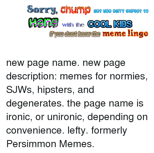 Funny Meme Pages Names : Meme page names images name of in the title