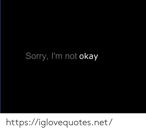Not Okay: Sorry, I'm not okay https://iglovequotes.net/