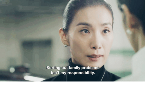 Responsibility: Sorting out family problems  isn't my responsibility.