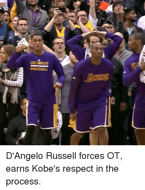 Basketball, Respect, and Sports: SOT'  LOSINGELES  A BASKETBALL D'Angelo Russell forces OT, earns Kobe's respect in the process.