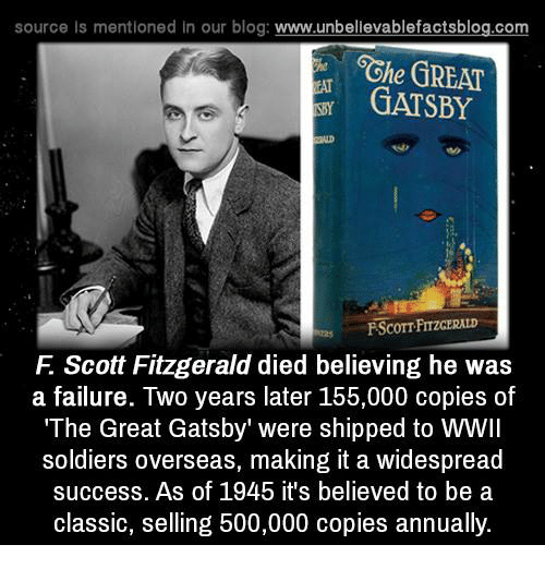 epic failures in the great gatsby by f scott fitzgerald On failureon the blog today wwwstephsscribecom ~ fscott fitzgerald quote on failureon the blog today wwwstephsscribecom ~ fscott fitzgerald quote.