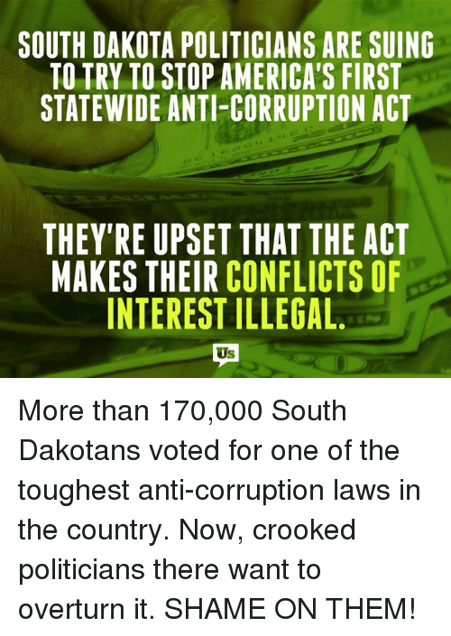 Image result for south dakota Anti-Corruption Act